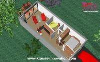 Modulhaeuser mit 51 qm wohnflaeche von krauss gmbh for Mini wohncontainer