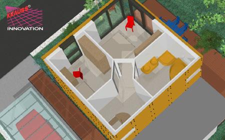 endlich gibt es das minihaus sparsam im verbrauch exclusiv im wohnbereich jetzt bei krauss. Black Bedroom Furniture Sets. Home Design Ideas