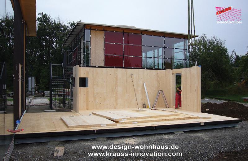 Der baufortschritt des minihaus der fa krauss gmbh for Minihaus aus holz